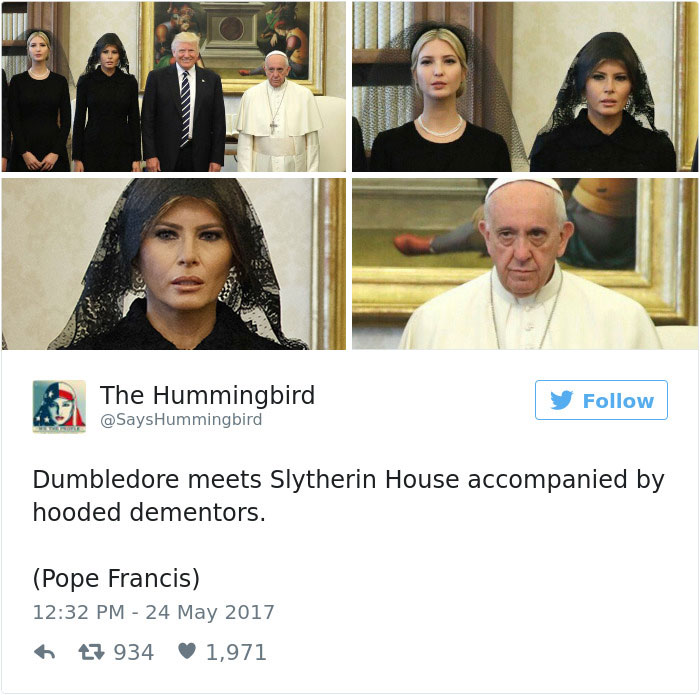 donald trump pope francis memes 26 59269ecc96c31__700 15 of the funniest reactions to super sad pope meeting the trumps,Pope Francis Trump Meme