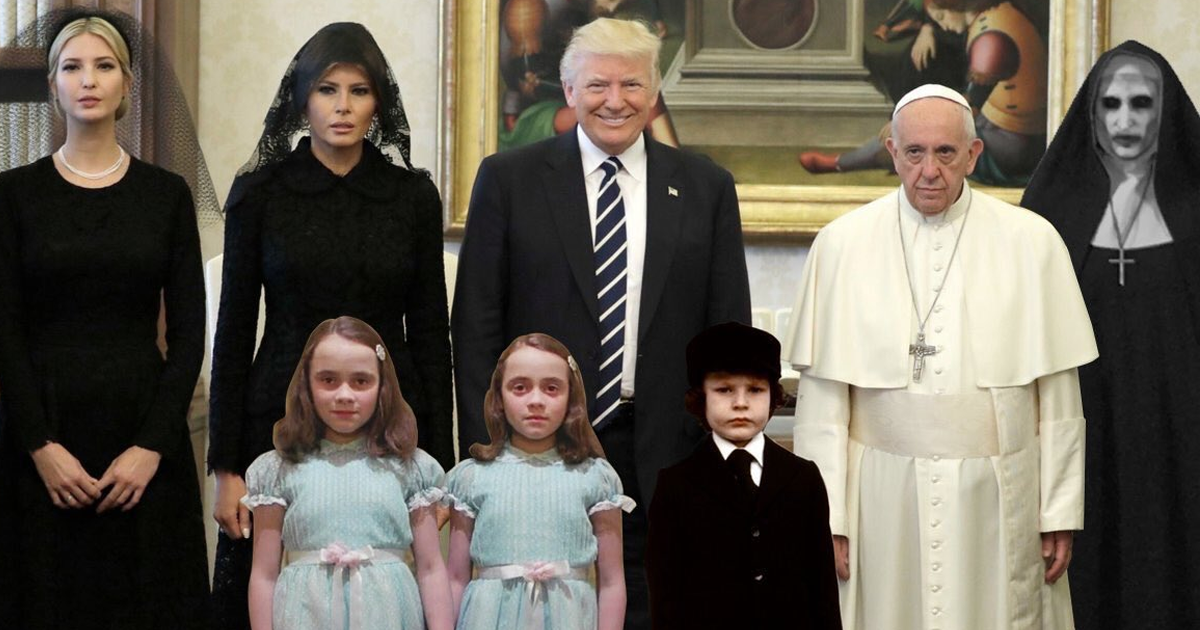 20+ Of The Funniest Reactions To Super Sad Pope Meeting The Trumps