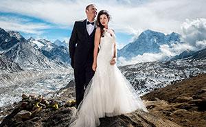 Esta pareja se casó en el Monte Everest tras 3 semanas de senderismo, y sus fotos de boda son épicas