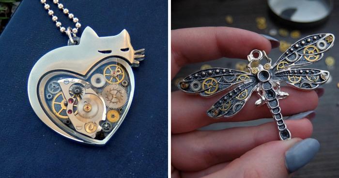 This Ukrainian Artist Creates Animal-Inspired Steampunk Jewelry