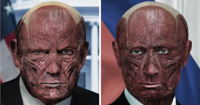 One Millimeter: We Removed The Skin From World Leaders' Faces To Show We're All Humans