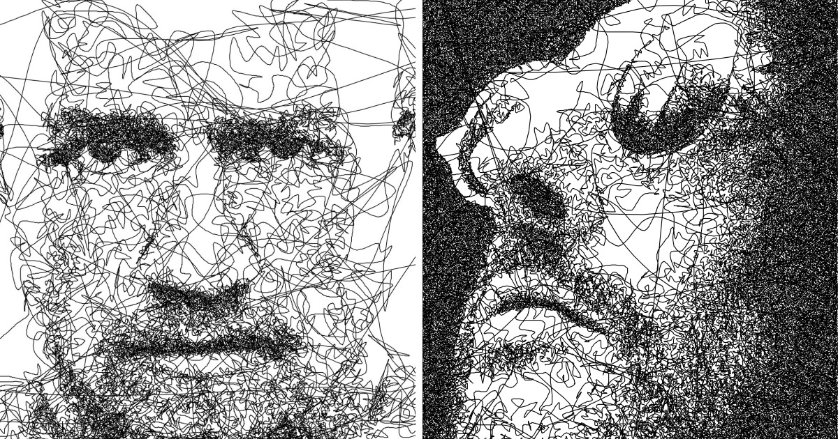 Example Of Line Drawing Algorithm : I wrote an algorithm that doodles drawings from a single line