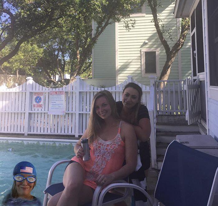 Friend Photoshops Herself Into Pictures
