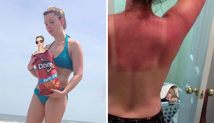 Girl Misses Beach Trip With Her Friends, Hilariously Photoshops Into Their Pics Instead