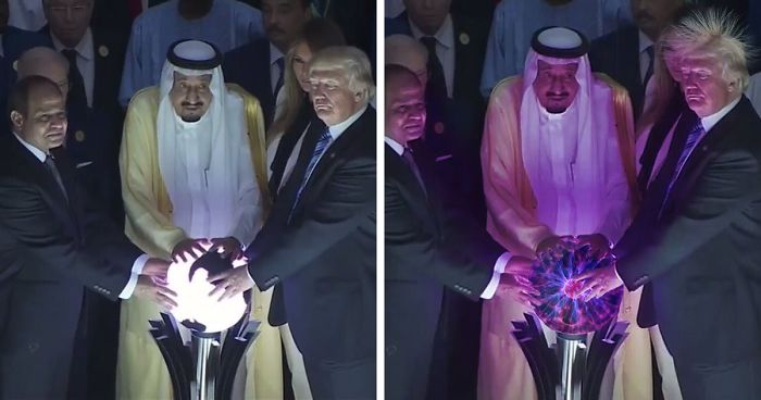 10+ Of The Funniest Reactions To Trump Touching The Orb During His Visit To Saudi Arabia