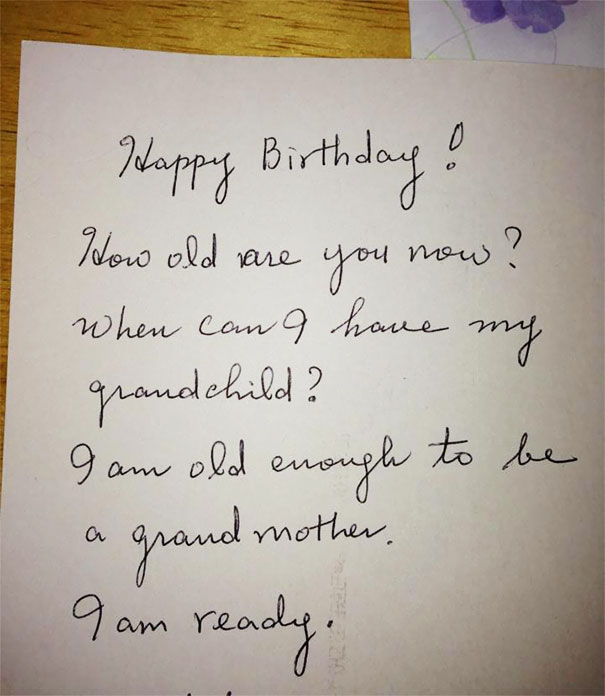 My Friend Got This Birthday Card From Her Mom. Difficulty Level: Korean