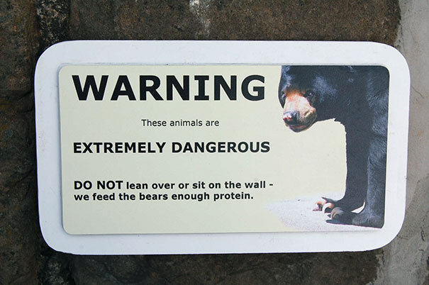 43 funny zoo signs which probably have some incredible stories