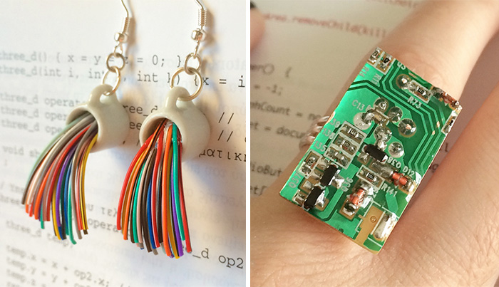 I Turn Old Electronic Devices Into Geeky Jewelry