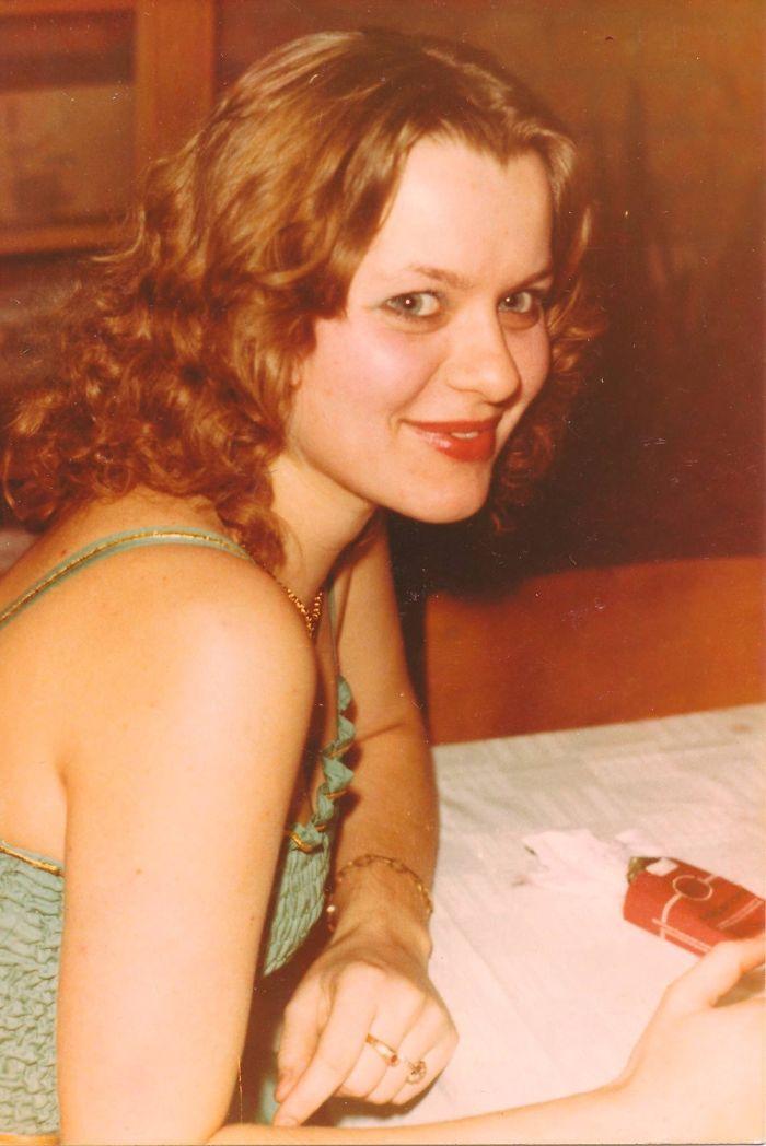 My Mom In 1980 In Hungary.