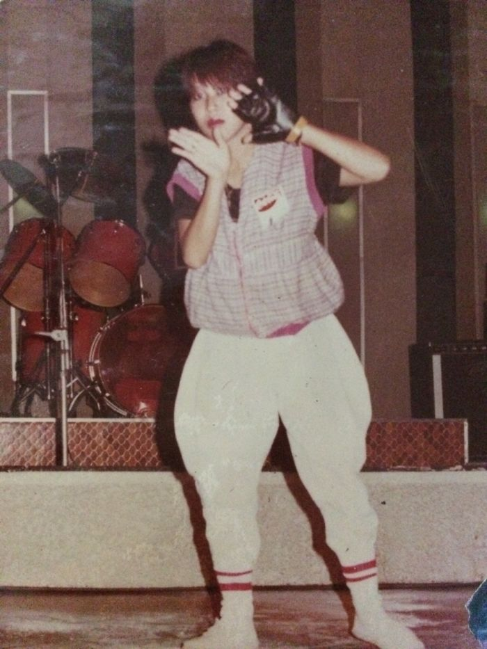 This Is My Mom On Her 19th On 1984, This Is When She's On Breakdance Competition.. 😁