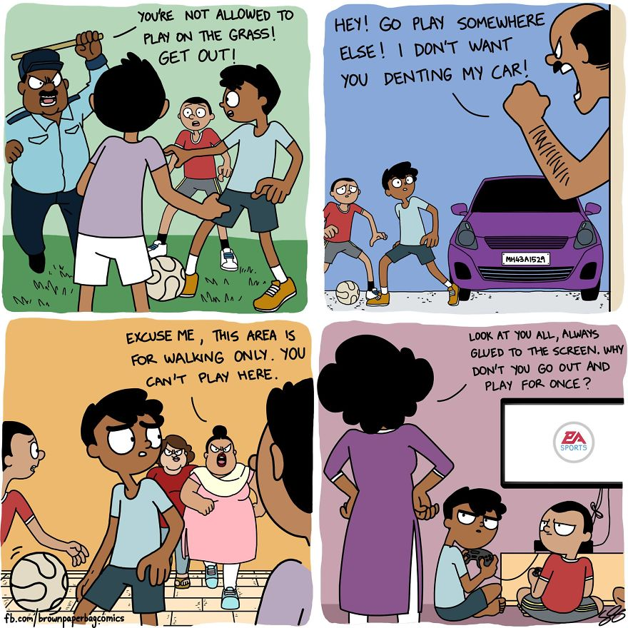 Indian Illustrator Hilariously Captures What It's Like Growing Up In
