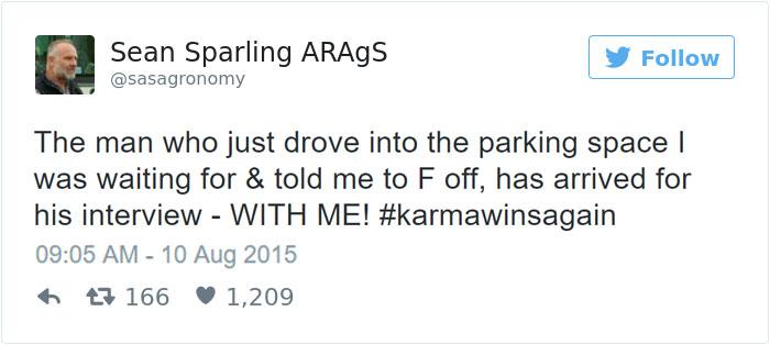 Karma Wins Again