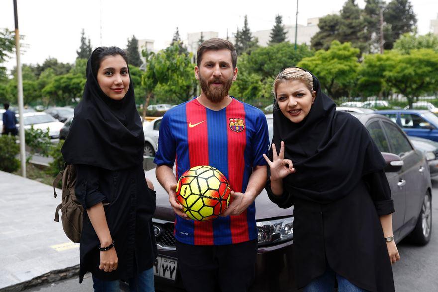 Estudiante iraní arrestado ser tan parecido a Lionel Messi