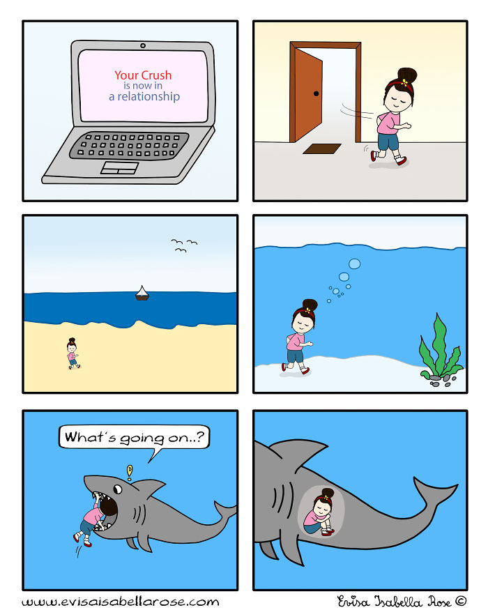 22 Funny Comics You Will Totally Relate To If Your Crush ...
