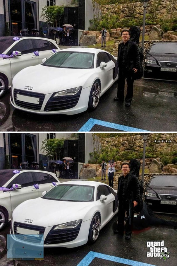 Here's Me With An Audi R8 I Spotted In The Parking Lot