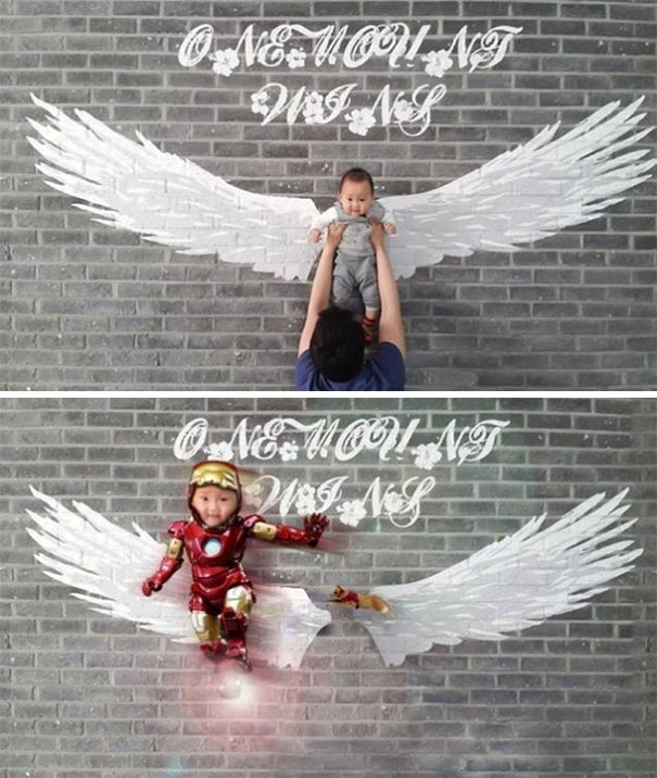 Please Remove Me From This Photo So That It Looks Like The Child Is Flying