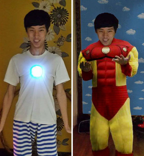 Please Put An Iron Man's Suit On Me And Add Some Sky