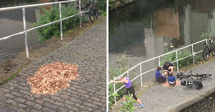 Artist Leaves 15,000 Coins On Ground In London To See How People React, And The Result Surprised Him