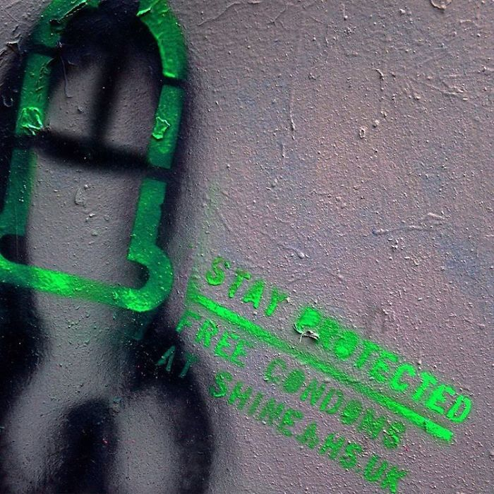 Anonymous Hero Is 'Protecting' Graffiti Penises By Painting Condoms Over Them 5