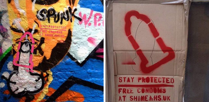 Anonymous Hero Is 'Protecting' Graffiti Penises By Painting Condoms Over Them 3