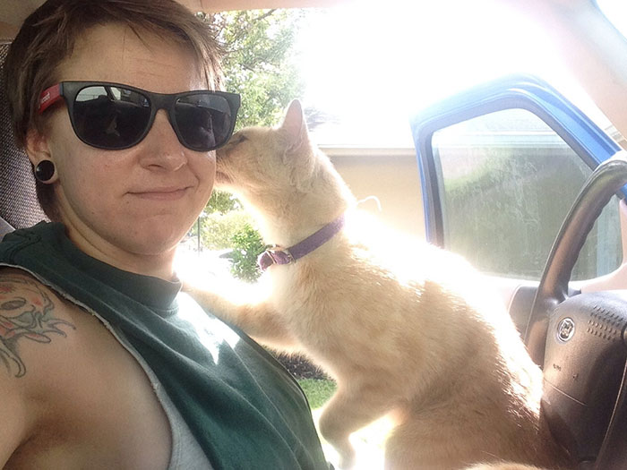 Soooo This Happened While I Was Cleaning Out My Truck Today…. I Don't Own A Cat