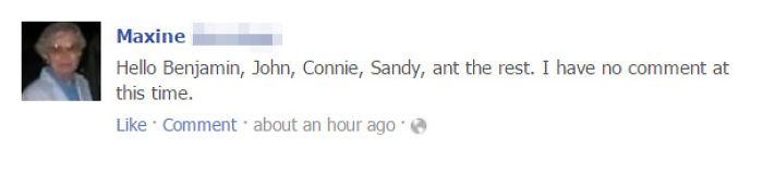 My 95-Year-Old Grandma Updating Facebook