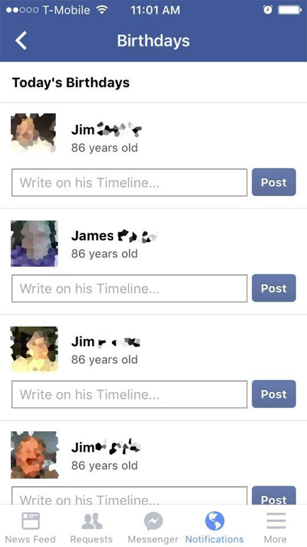 Grandpa Makes A New Facebook Account Whenever He Forgets His Password