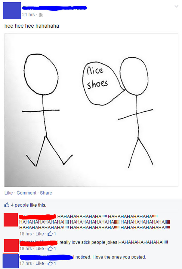 She Just Loves Those Stick Figure Jokes. She Really, Really Loves Them
