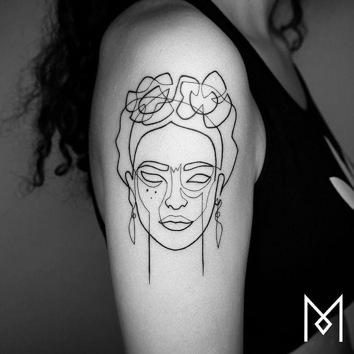 One Line Tattoo