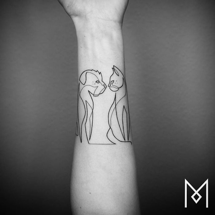 100 Incredible Tattoos Created Using A Single Continuous