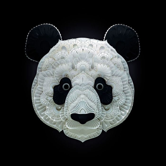 The Artist's Intricate Paper Sculptures Highlight The Status Of Species Threatened With Extinction
