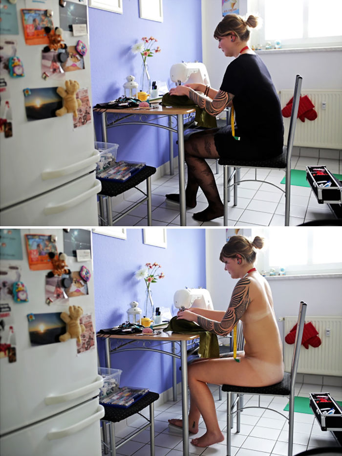People Doing Everyday Things Without Clothes