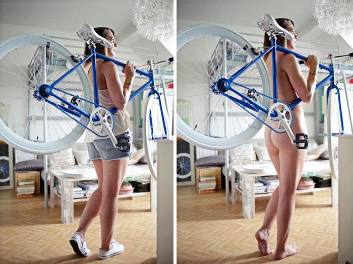 Esta fotógrafa alemana retrata a personas reales haciendo sus tareas sin ropa, y explica por qué (NSFW)