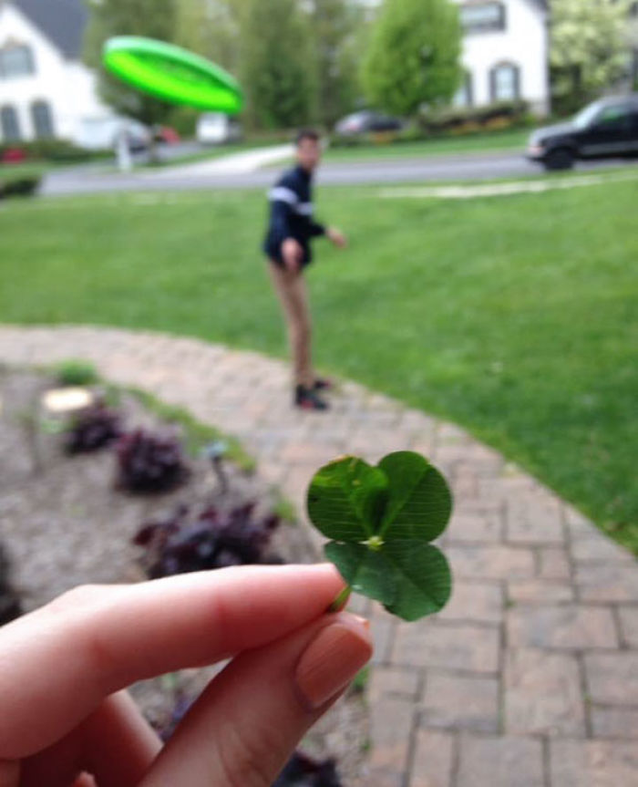 One Year Ago My Girlfriend Found A 4 Leaf Clover
