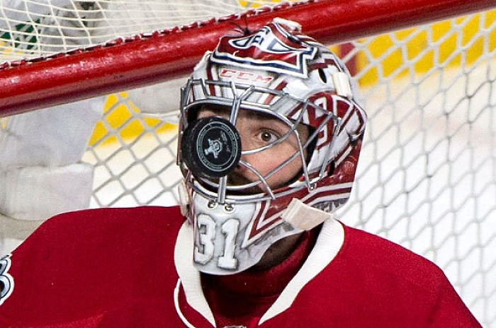 Goaltender Carey Price Keeps A Close Eye On The Puck