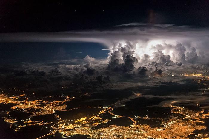 Tormenta sobre la ciudad de Panamá