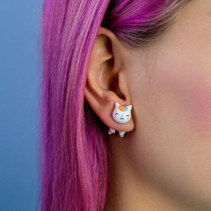 Nyanko Sensei Cat Earring