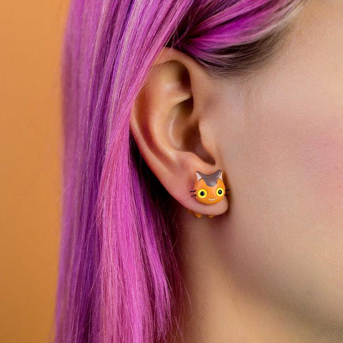 Catbus Earring