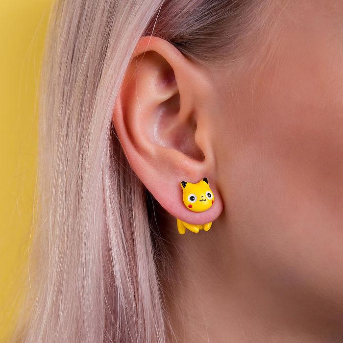 Pikachu Cat Earring
