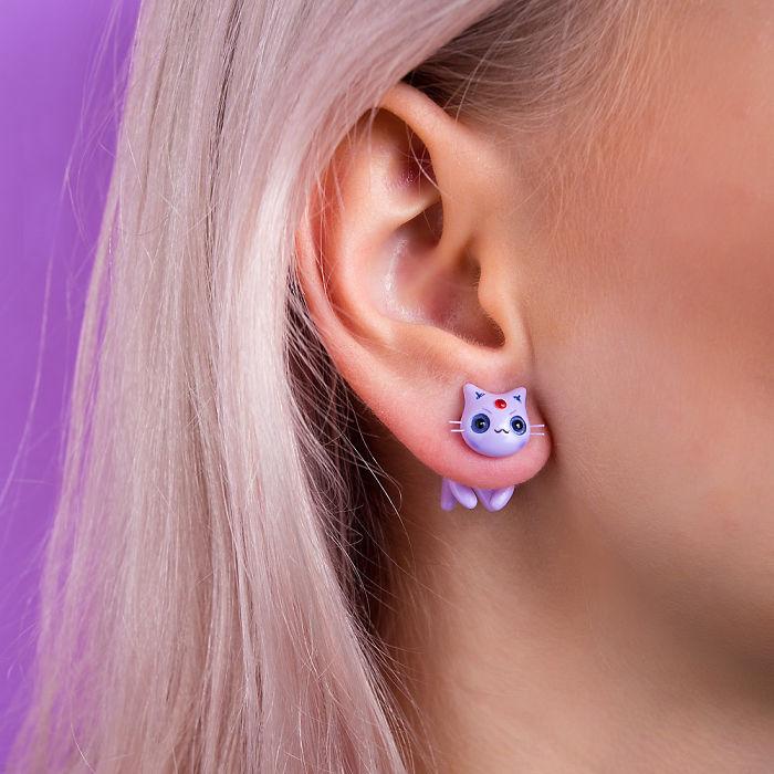 Espion Eevee Evolution Cat Earring