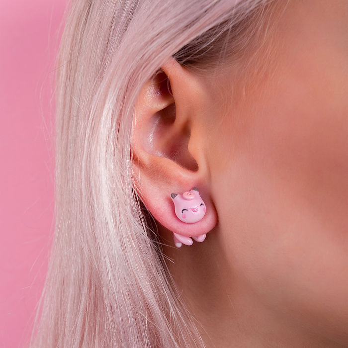 Clefairy Cat Earring