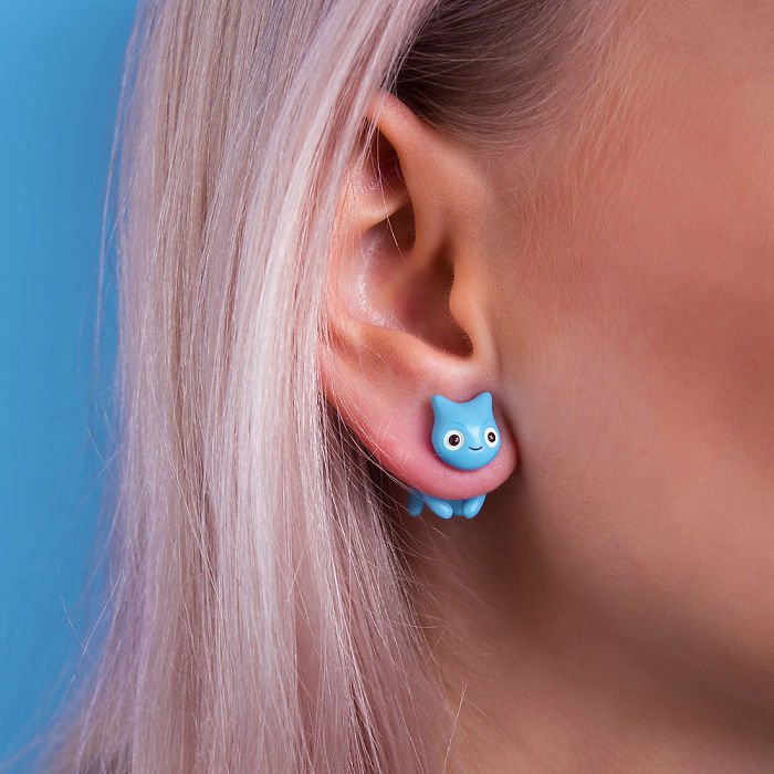 Squirtle Cat Earring