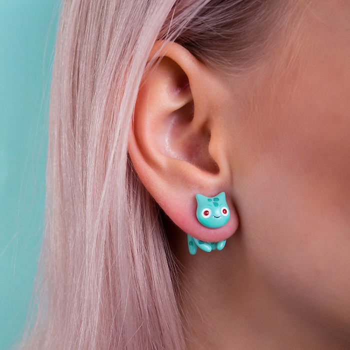 Bulbasaur Cat Earring