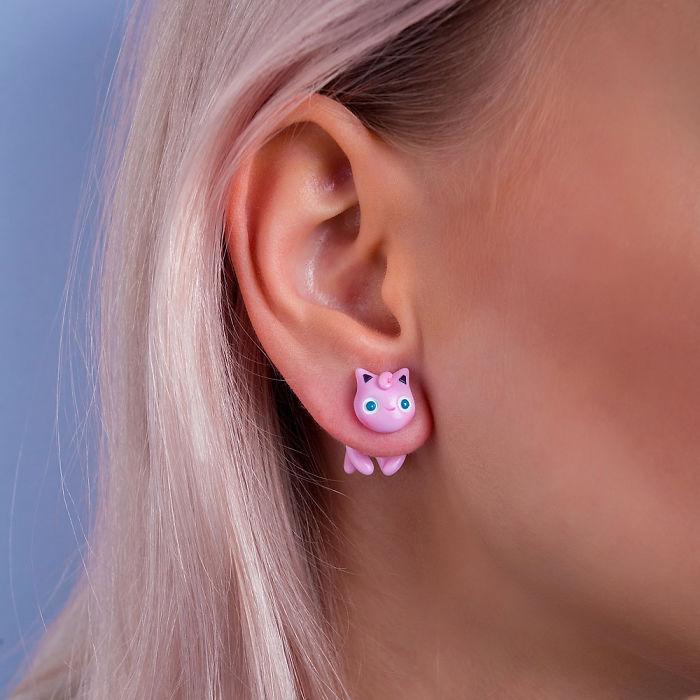 Jigglypuff Cat Earring
