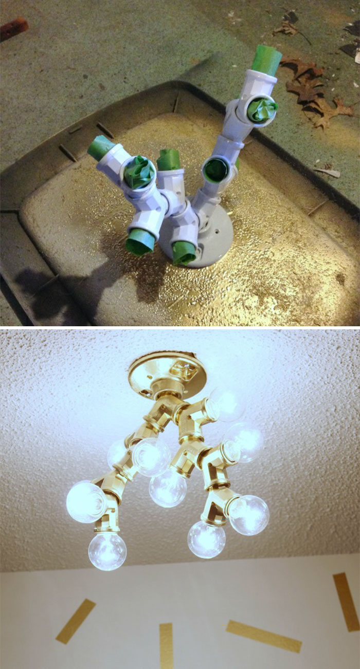 $25 Diy Light Fixture That Anyone Can Make