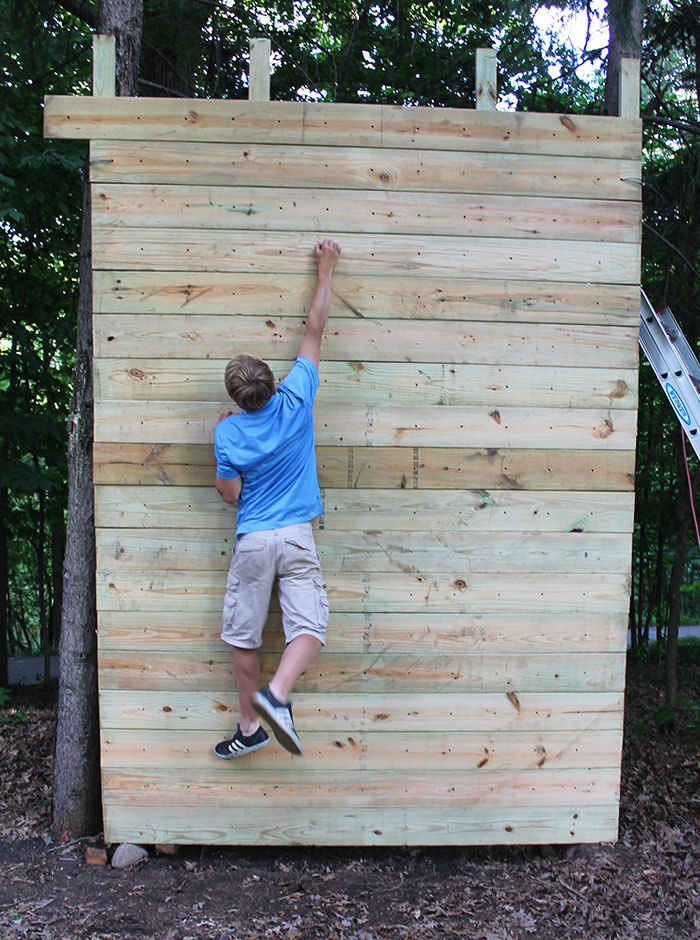A Homemade Outdoor Bouldering Wall My Friend And I Made This Summer!