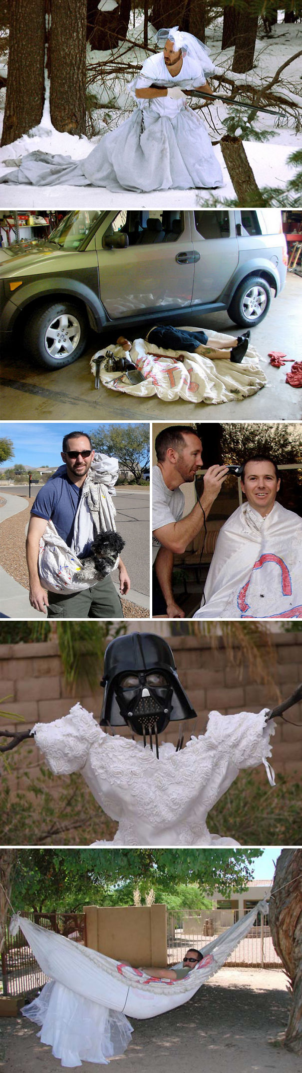 Man Finds Over 100 Ways To Use His Ex-Wife's Wedding Dress