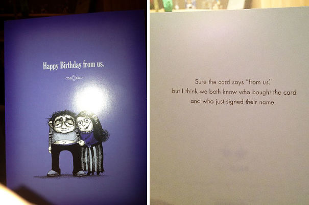 Asked My Girlfriend To Pick Up A Card From Us For My Mom's Birthday... Girlfriend: 1 Me: 0