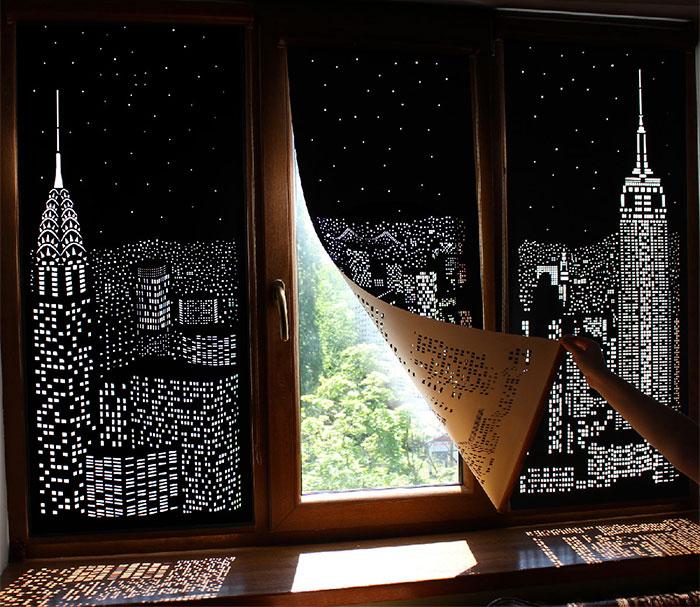 Con estas cortinas opacas te parecerá vivir en un ático sobre una gran ciudad