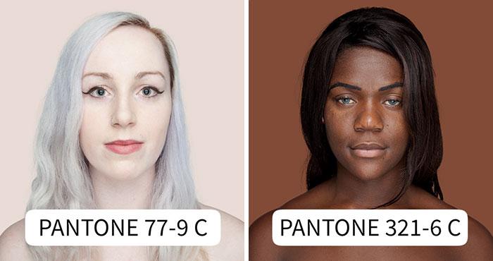 Esta fotógrafa intenta retratar cada tono de piel para un proyecto Pantone humano